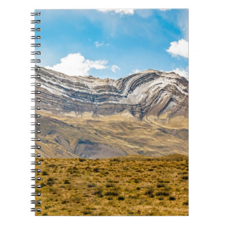 Snowy Andes Mountains Patagonia Argentina Spiral Notebooks