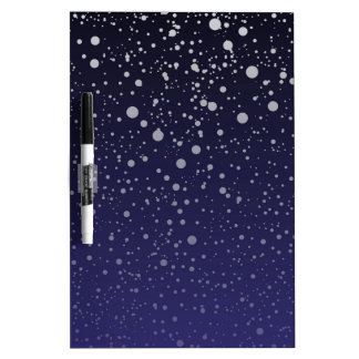 Snowy Backdrop Dry Erase Board