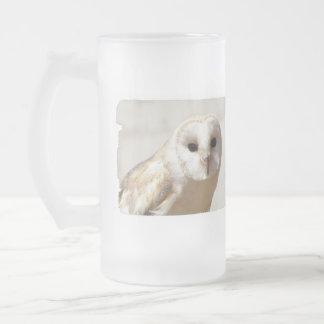 Snowy Barn Owl Frosted Mug