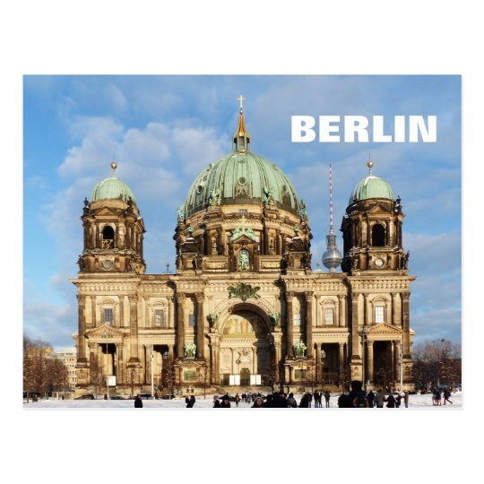 Snowy Berlin Cathedral 2.2.T Postcard