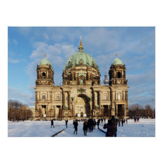 Snowy Berlin Cathedral Poster