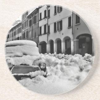Snowy Bologna Beverage Coaster