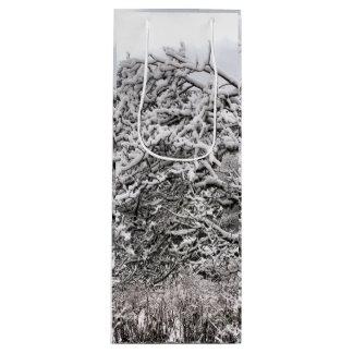 "Snowy branches  4.75"" l x 4"" w x 13"" h gift bag"