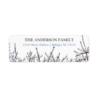 Snowy Branches - Address Labels
