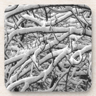 Snowy branches coaster