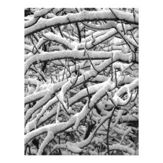 Snowy branches letterhead