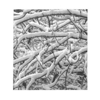 Snowy branches notepad