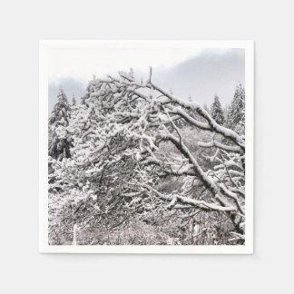 Snowy branches standard Paper Napkins
