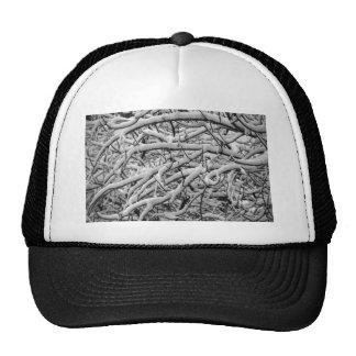 Snowy branches trucker hat