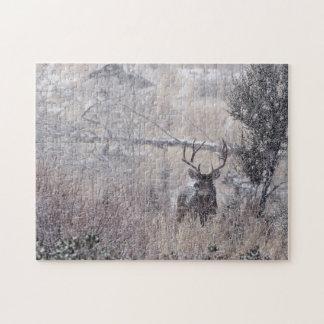 Snowy Buck Jigsaw Puzzle
