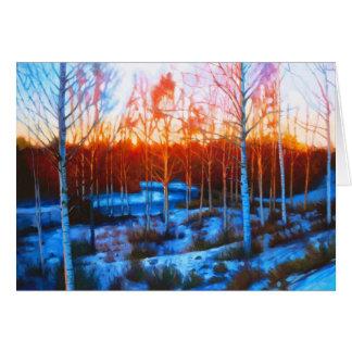 Snowy Christmas Card (blank on inside)