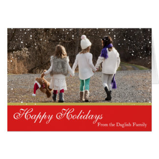 Snowy Christmas Family Card