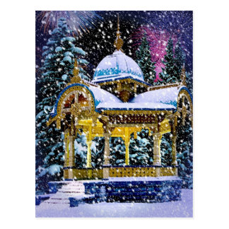 Snowy Christmas scene Postcard