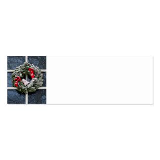 Snowy christmas wreath business card