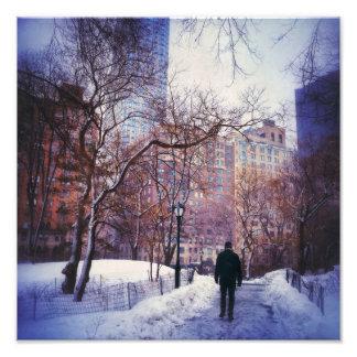 Snowy City Stroll Photo Print