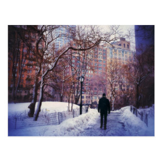 Snowy City Stroll Postcard