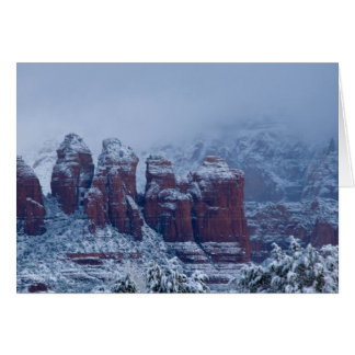 Snowy Coffee Pot Rock Greeting Card 2736