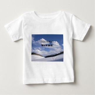 Snowy Colorado Ski Slopes Baby T-Shirt