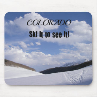 Snowy Colorado Ski Slopes Mouse Pad