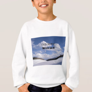 Snowy Colorado Ski Slopes Sweatshirt