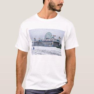 Snowy Coney Island T-Shirt
