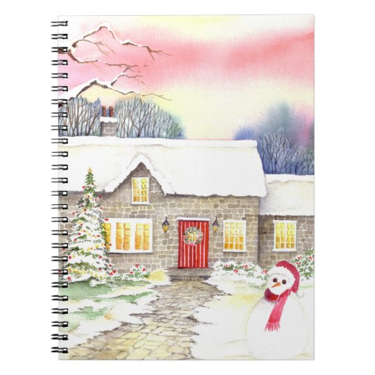 Snowy Cottage Notebook