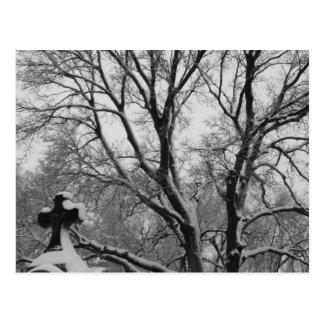 Snowy Cross Postcard
