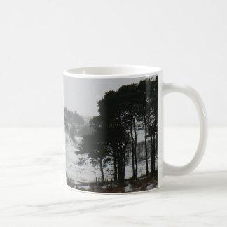 Snowy Cumbrian Winter Scene Basic White Mug
