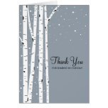 Snowy Day Birch Trees