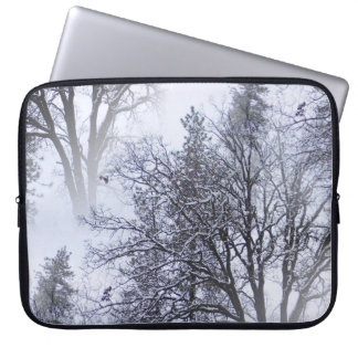 Snowy day in the trees... laptop sleeve