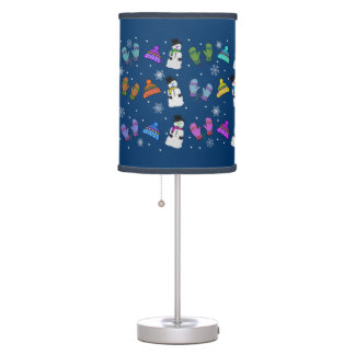 Snowy Day Lampshade Table Lamp