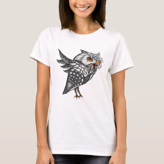Snowy Eagle-Owl Graphic Art T-Shirt