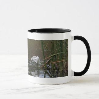 Snowy Egret at Pond Mug