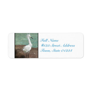 Snowy Egret Bird Return Address Label