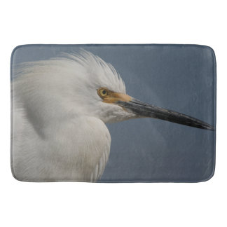 Snowy Egret Bird Wildlife Animals Bath Mat