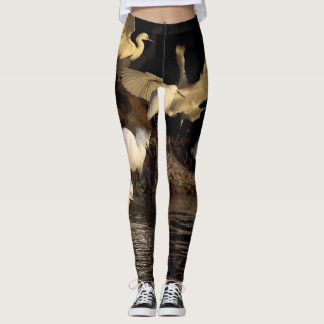 Snowy Egret Birds Wildlife All Over Print Leggings