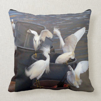 Snowy Egret Birds Wildlife Animals Throw Pillow