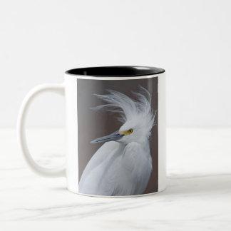 Snowy Egret (Egretta thula) Two-Tone Coffee Mug