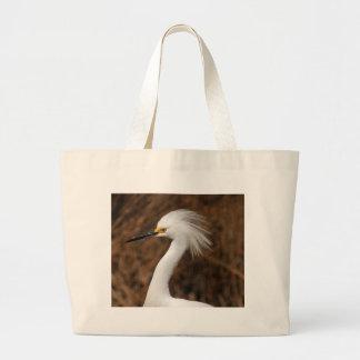 Snowy Egret Large Tote Bag