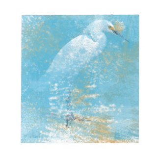 Snowy Egret Memo Pad