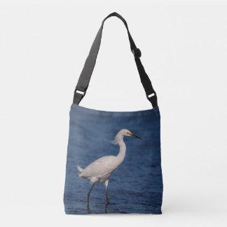 Snowy Egret on North Beach Crossbody Bag