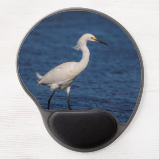 Snowy Egret on North Beach Gel Mouse Pad