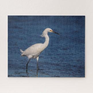 Snowy Egret on North Beach Jigsaw Puzzle