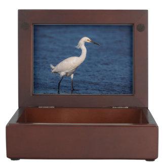 Snowy Egret on North Beach Keepsake Box