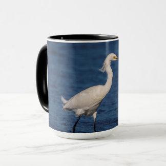 Snowy Egret on North Beach Mug