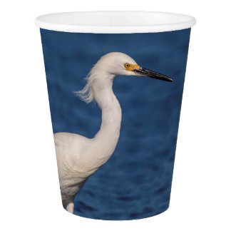 Snowy Egret on North Beach Paper Cup