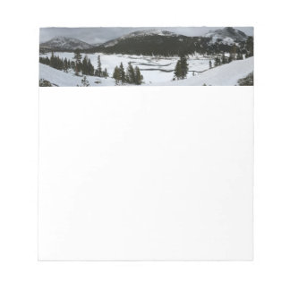 Snowy Ellery Lake California Winter Photography Notepad