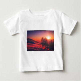 Snowy Evening Sunset Baby T-Shirt