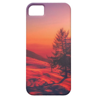 Snowy Evening Sunset Case For The iPhone 5