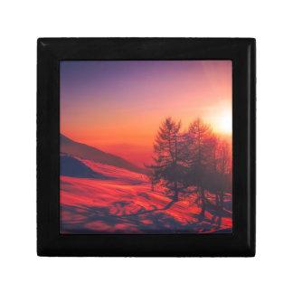Snowy Evening Sunset Gift Box